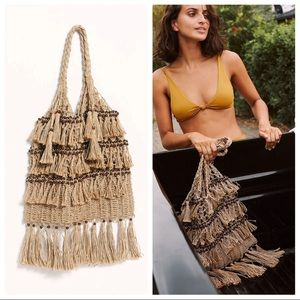 Free People Jute Woven Tote